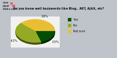 Do you understand well buzzwords like Blog, .NET, AJAX, etc? graph of japanese opinion